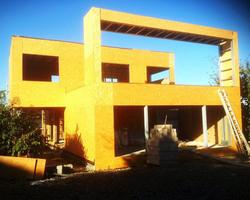 Ti 3D - Montdragon - Maison ossature acier ; Steeldar - Chantier 1