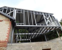 Ti 3D - Montdragon - Maison ossature acier ; Steeldar - Extension maison