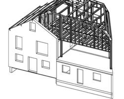 TI3D - Maison ossature acier ; Steeldar - Extension maison